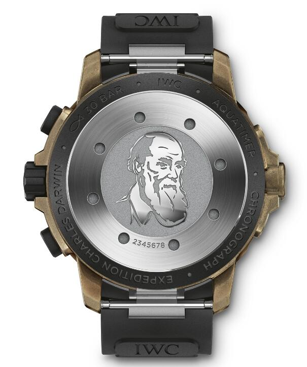 The portrait of Darwin has been engraved on the caseback, looking persistent to something.