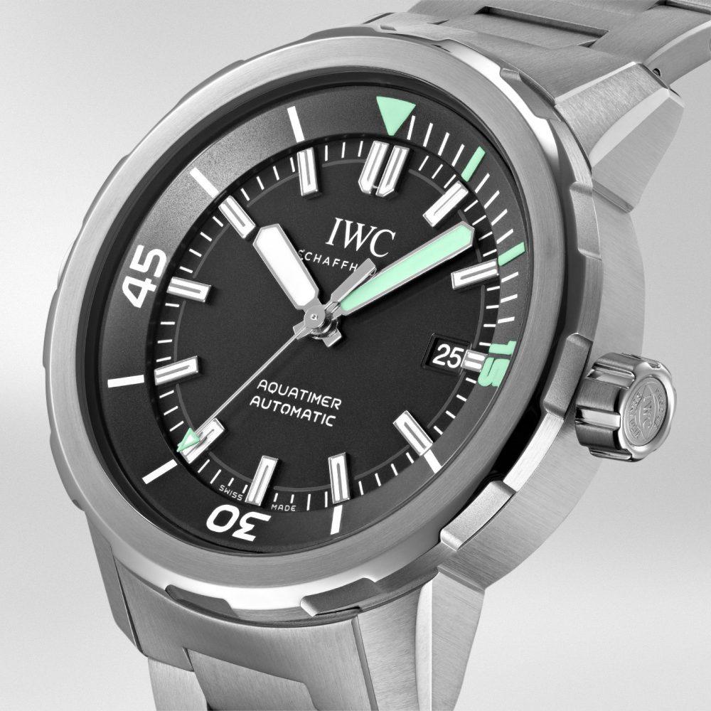 The model is water resistant to a depth of 300 meters.
