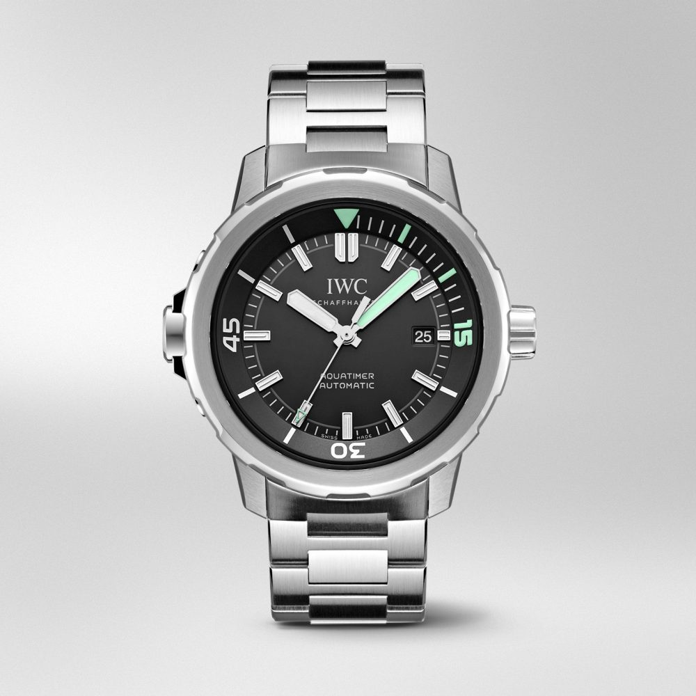 The fresh green elements are really striking on the black dial.