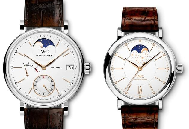 These two IWCwatches are with understated appearance.
