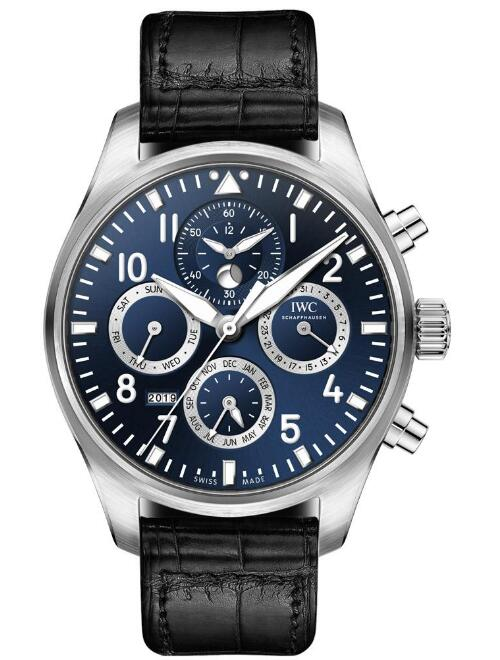 The IWC has combined the functions of chronograph and perpetual calendar.